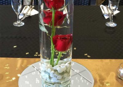 Gorgeous rose centre piece