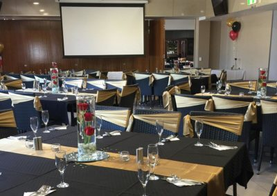 Wedding setup in the private function room