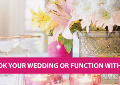Book your wedding or function