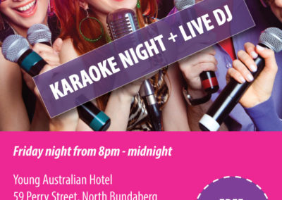Karaoke + Live DJ – Friday Night