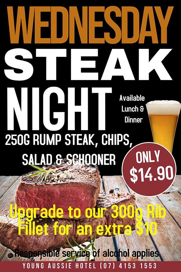 Steak Special Young Australian Hotel Bundaberg
