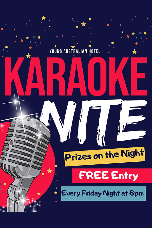 Karaoke at the Young Aussie Hotel Bundaberg on Friday Nights