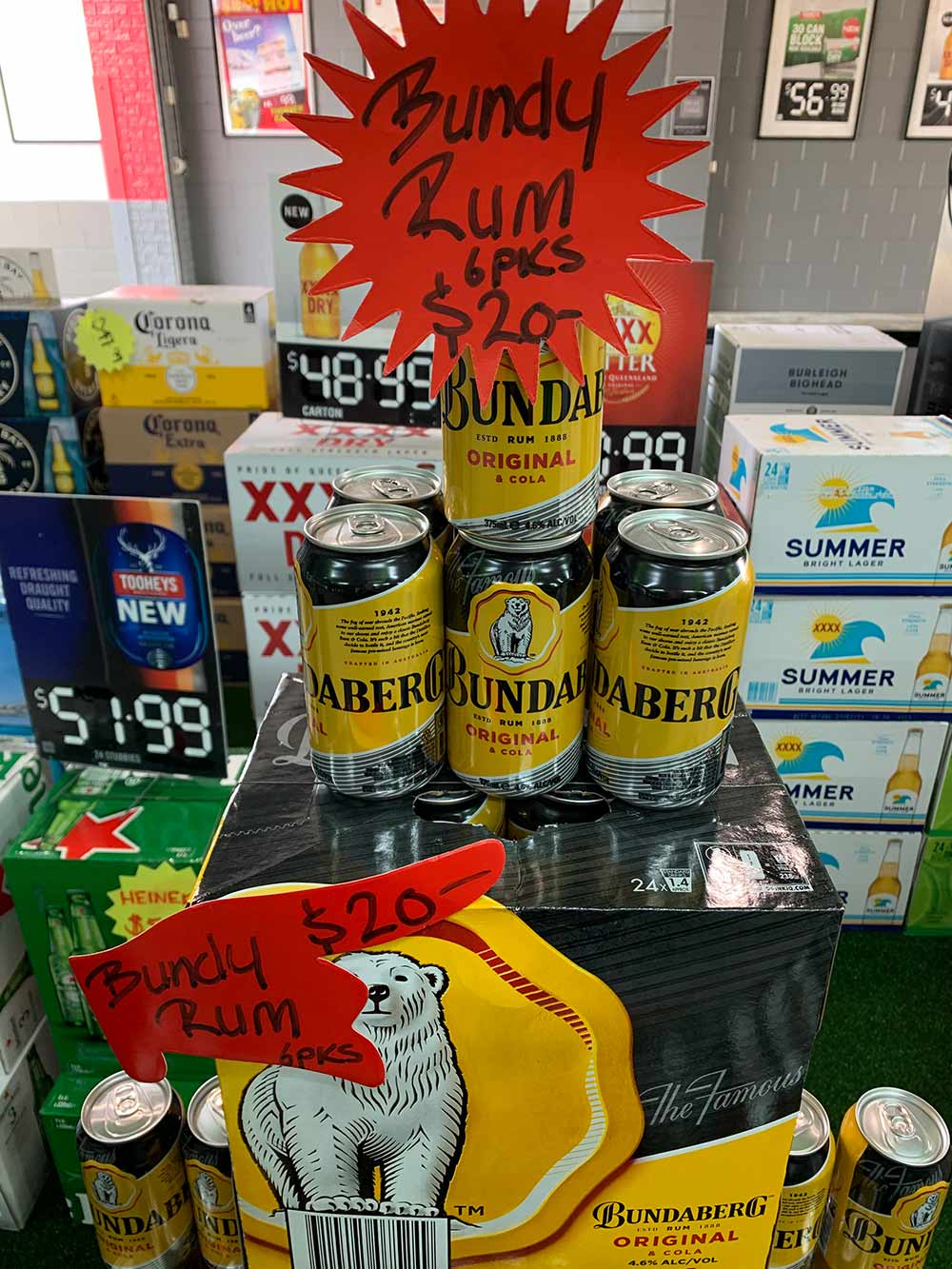 Bundy Rum 6 packs - Whilst stock lasts ... save $7