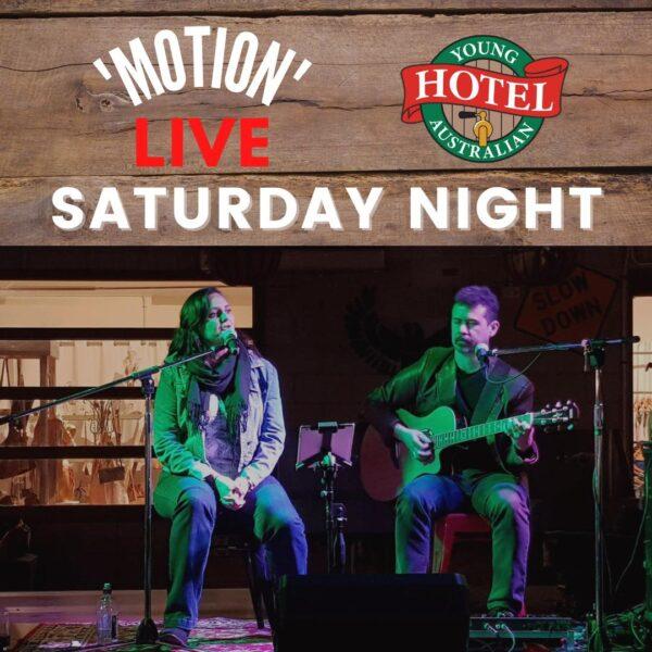 Motion - Live Music at Young Australian Hotel Bundaberg
