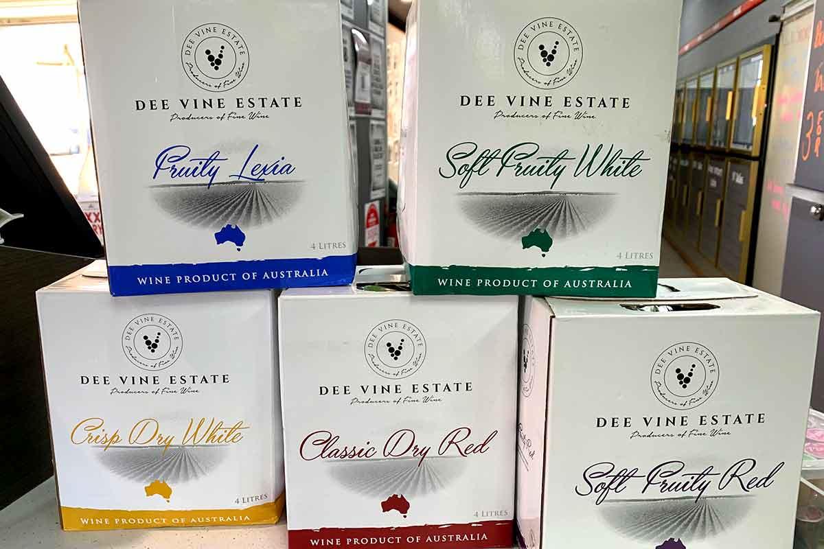 Dee Vine Estate Casks - 4 litre cask - $9