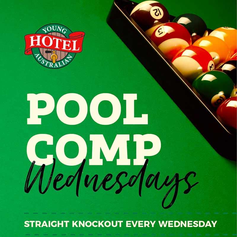 Pool Competition - Wednesdays at Young Australian Hotel Bundaberg