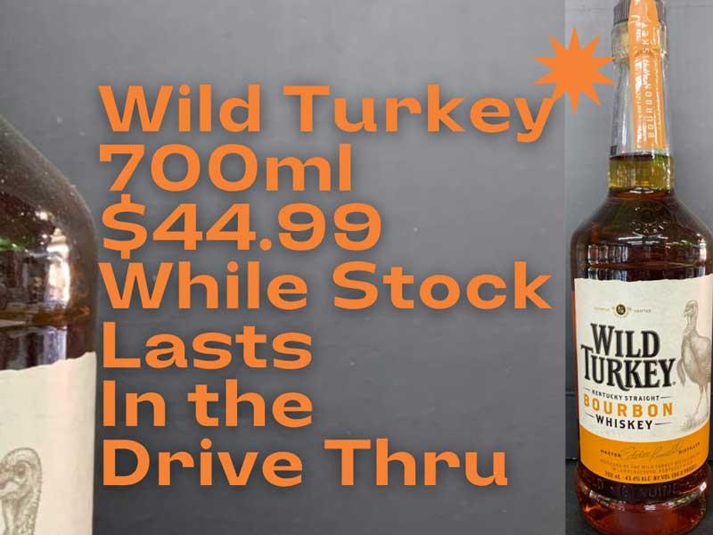 Wild Turkey Special at the Young Australian Hotel Bundaberg